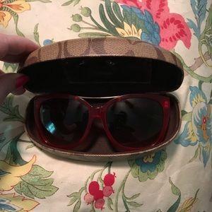 coach sunglasses and case